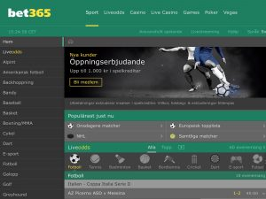 Screenshot Bet365