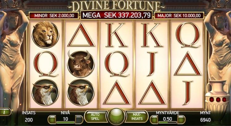 Divine Fortune spelskärm