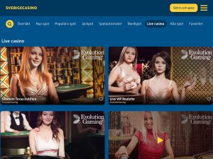 Screenshot Sverigecasino