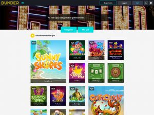 Screenshot Dunder Casino