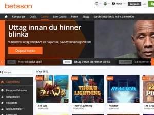 Screenshot Betsson