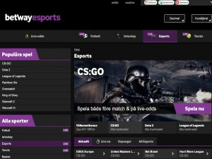 Screenshot Betway