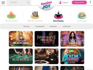 Screenshot Casino Joy