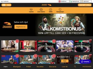 Screenshot Snabbis Casino